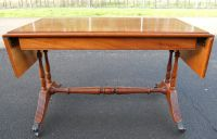 Regency Style Yew Sofa Dropleaf Coffee Table